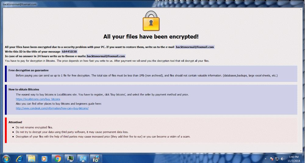 Dharma Ransomware: Alerta Segurança