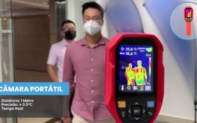 Câmara Termográfica Medição Temperatura Corporal em Tempo Real